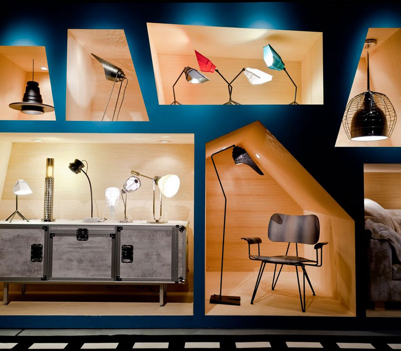 Furniture showroom image. Diesel by Foscarini funiture collection in Toronto and Markham Ontario.