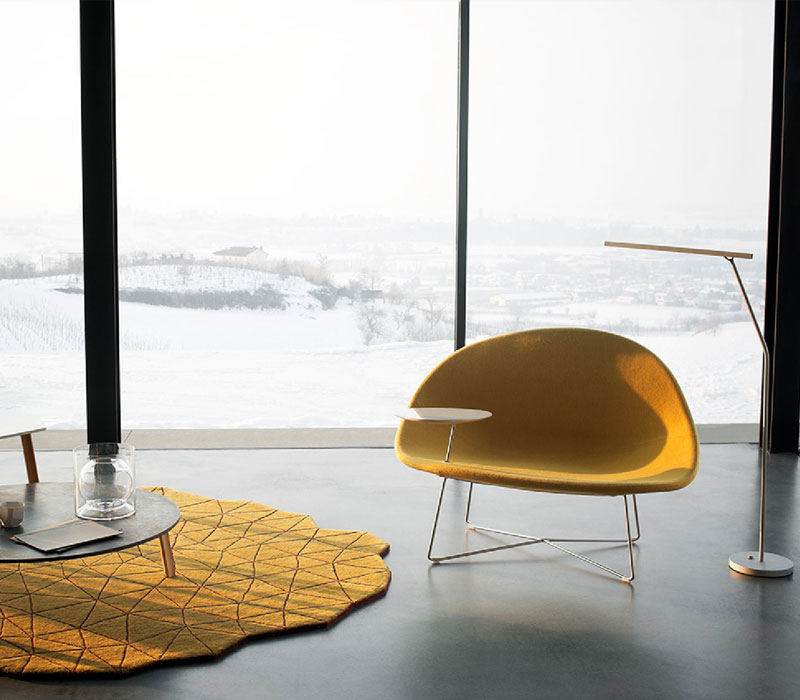Furniture showroom image. Tacchini funiture collection in Toronto and Markham Ontario.